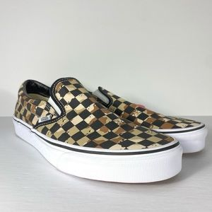 Vans Classic Slip-On Checkerboard Camo Sneakers